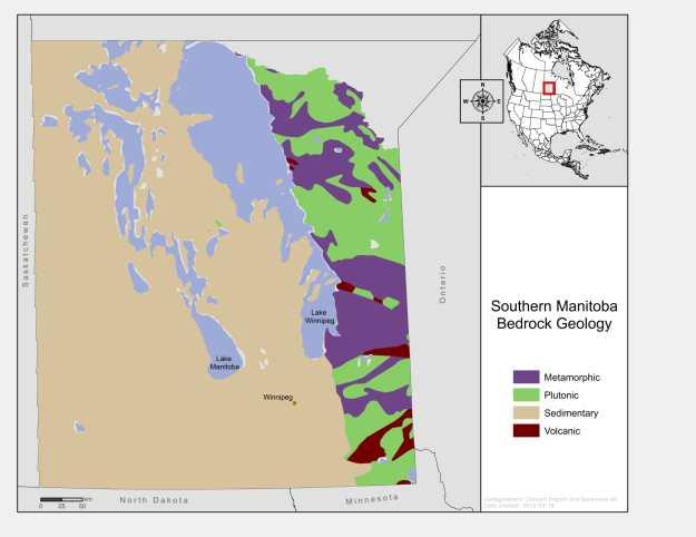 Bedrock Geology of Southern Manitoba